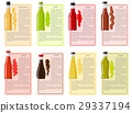 Sauce Bottle Collection with Information Text 29337194