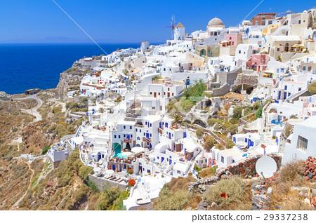 Windmill of Oia village, Santorini island, Greece 29337238