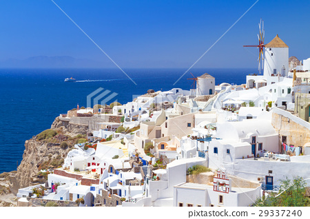 Windmill of Oia village, Santorini island, Greece 29337240