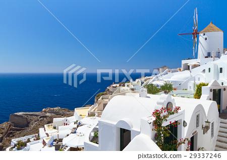 Windmill of Oia village, Santorini island, Greece 29337246