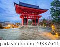 Gate to the Kiyomizu-Dera temple in Kyoto, Japan 29337641