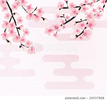 Abstract Floral Sakura Flower Japanese Natural 29337808