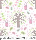Hanami festival  seamless pattern 29337828