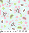 Hanami festival  seamless pattern 29337831