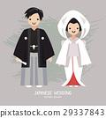 Vector illustration of Japanese  wedding 29337843