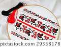 Slavic red and black embroidery by cross-stitch. 29338178