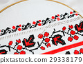 Slavic red and black embroidery by cross-stitch. 29338179
