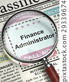 Finance Administrator Hiring Now. 3D. 29339674