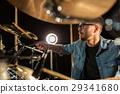 musician playing cymbal 29341680