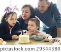 Family Celebrating Birthday Cake Smile Happy 29344380