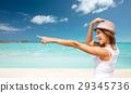summer beach happy 29345736