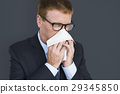Business Man Sick Cry Tissue Paper 29345850