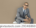 African Descent Business Man Thinking Concept 29346860