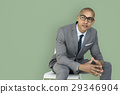 African Descent Business Man Thinking Concept 29346904