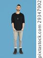 Caucasian Man Peaceful Standing 29347902