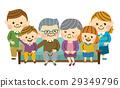 家人坐在沙發上 29349796