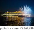 Luxury cruise ship entrance 29349986