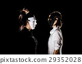 Conflict confrontation between beautiful woman 29352028