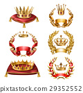 golden, crown, vector 29352552