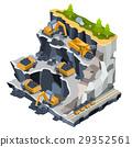 coal, quarry, vector 29352561