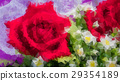 Abstract Polygon Rose Flower Background EPS10. 29354189