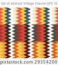 Set of Abstract Vintage Chevron Background EPS10. 29354200