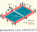 illustration info graphic of tennis court match 29354377