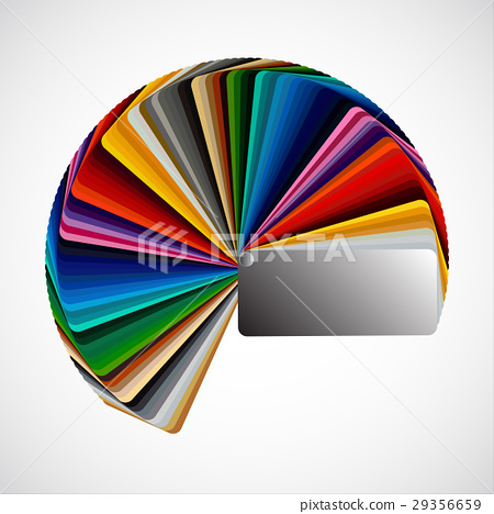 Color palette isolated on white background 29356659