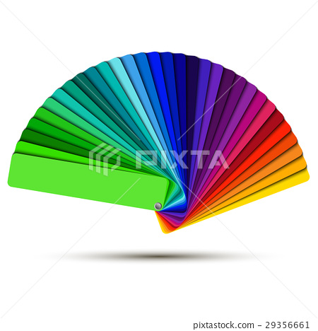 Color palette isolated on white background 29356661