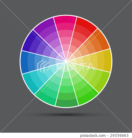 Color round palette on gray background 29356663
