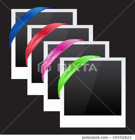 Three photo frames with corner ribbon 29356822