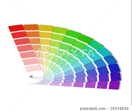 Color palette isolated on white background 29358836
