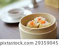 Chinese food dim sum in bamboo basket 29359045