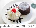 Chocolate Lava Cake with ice cream 29359325