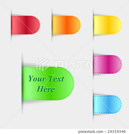 Set of colorful glossy labels. Vector illustration 29359346