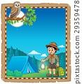Parchment with scout boy theme 2 29359478