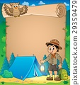 Parchment with scout boy theme 3 29359479