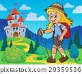 Woman hiker theme image 3 29359536