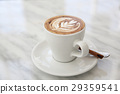 cappuccino coffee in white table 29359541