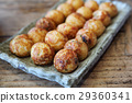 Takoyaki on wood background 29360341