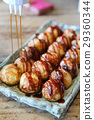 Takoyaki on wood background 29360344