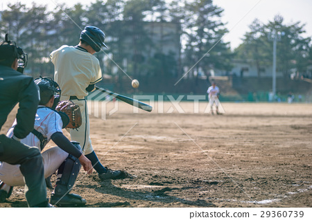 High school baseball game landscape 29360739