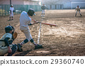 High school baseball game landscape 29360740