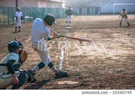 High school baseball game landscape 29360740