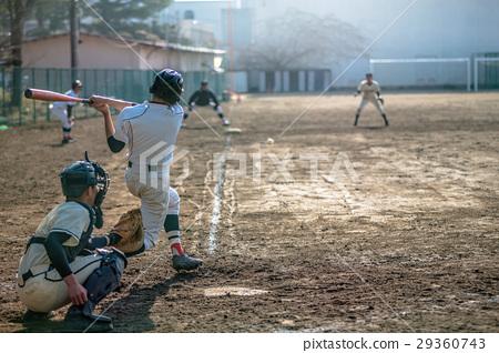 High school baseball game landscape 29360743