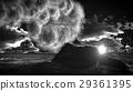 Volcanic eruption on island 3d rendering 29361395