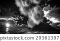 Volcanic eruption on island 3d rendering 29361397