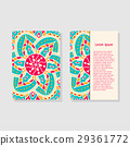 card, mandala, template 29361772
