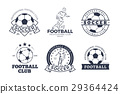 Set of Football Club Graphic Icons Flat Design 29364424