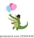 crocodile, isolated, vector 29364446
